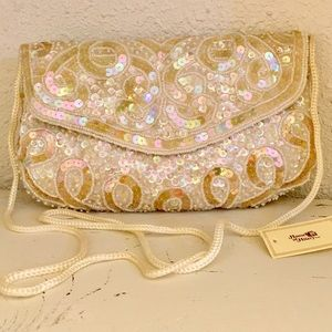 Vintage Sequined Clutch | New Old Stock
